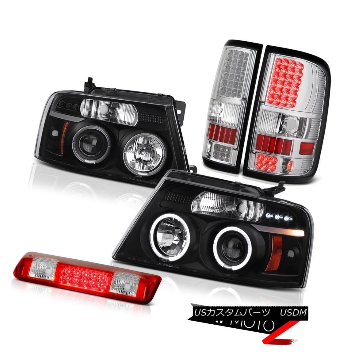 テールライト 04-08 Ford F150 XLT 3rd Brake Light Taillights Headlights Halo Rim