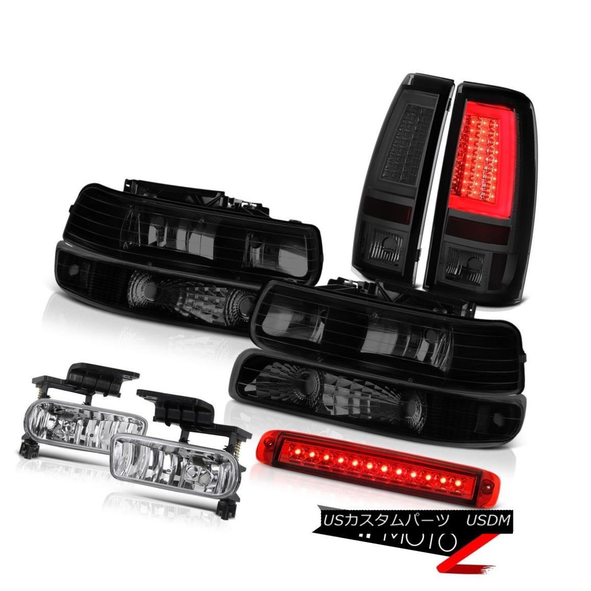テールライト 99 00 01 02 Silverado 3500 Tail Lights Headlights Bumper Red Roof Cab Light Fog 99 00 01 02シルバラード3500テールライトヘッドライトバンパーレッドルーフキャブライトフォグ
