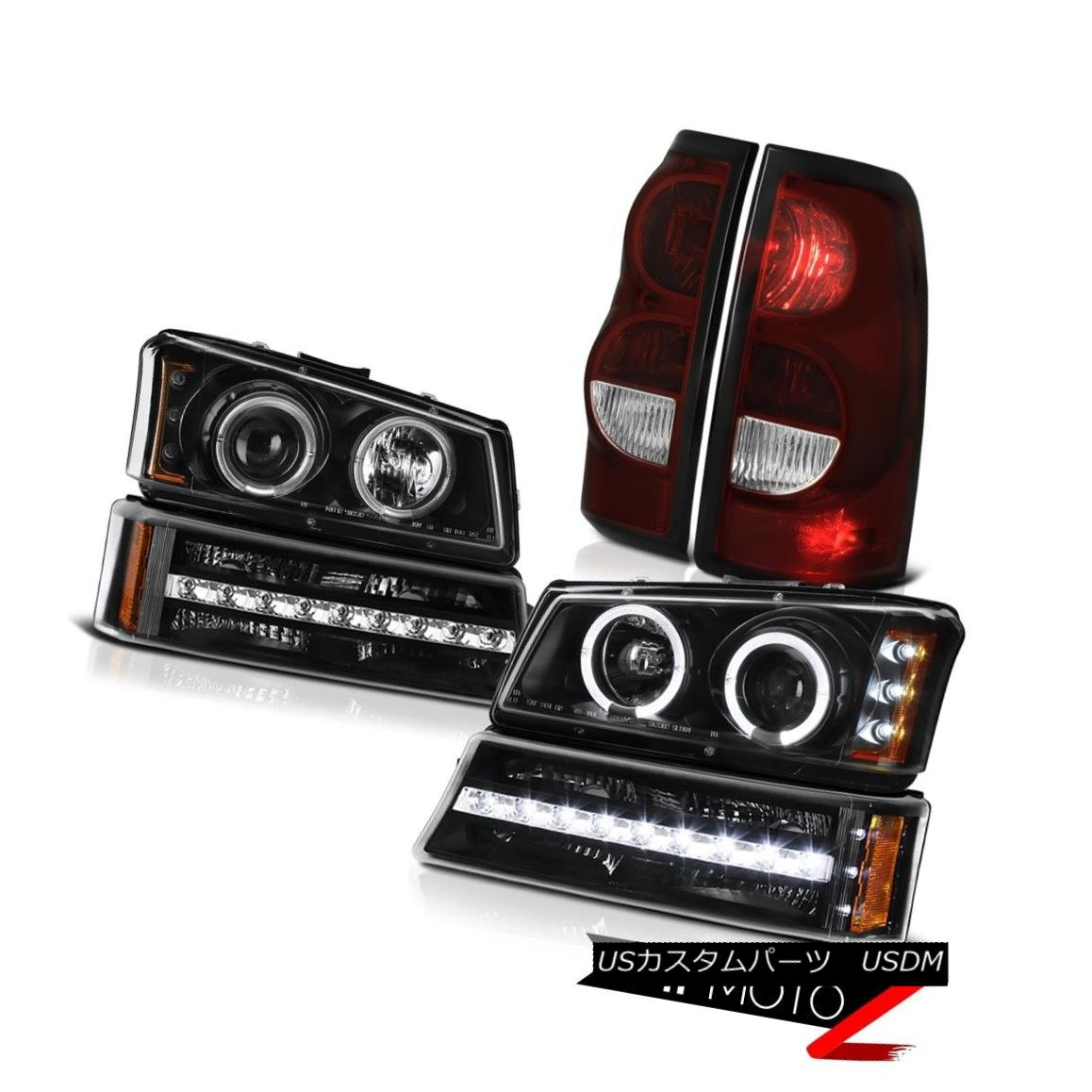 テールライト 03 04 05 06 Silverado Tail Lights Inky Black Turn Signal Projector Headlights 03 04 05 06 SilveradoテールライトInky Black Turnシグナルプロジェクターヘッドライト