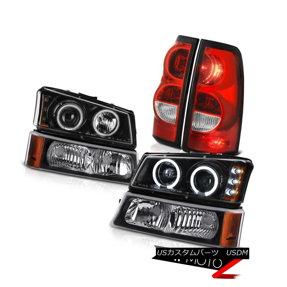 テールライト 03-06 Chevy Silverado Rear Brake Lights Signal Lamp Headlamps Factory Style LED 03-06 Chevy Silveradoリアブレーキライト信号ランプヘッドランプ工場スタイルLED