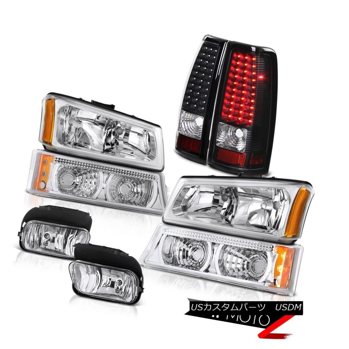 テールライト Silverado 2500 3500 Chrome Headlight Bumper SMD Tail Lamp Black Driving Foglight Silverado 2500 3500クロームヘッドライトバンパーSMDテールランプブラック駆動Foglight