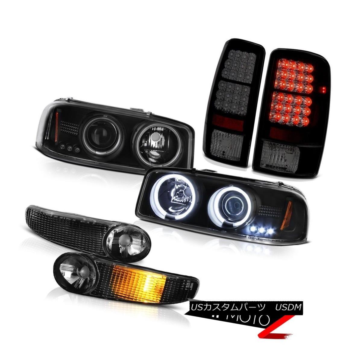 テールライト CCFL Halo 2000 2002 2003 2004 Yukon Headlights Black Bumper Smoke LED Tail Light CCFL Halo 2000 2002 2003 2004ユーコンヘッドライトブラックバンパースモークLEDテールライト