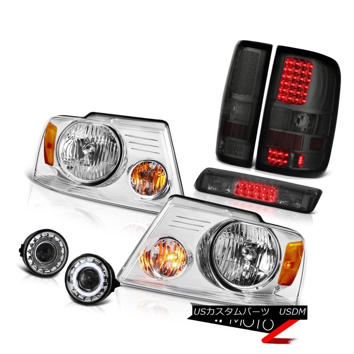テールライト 06-08 Ford F150 STX Fog Lights Smoked Roof Cargo Lamp Headlamps Tail Lamps LED 06-08 Ford F150 STXフォグライティングスモークルーフカーゴランプヘッドランプテールランプLED