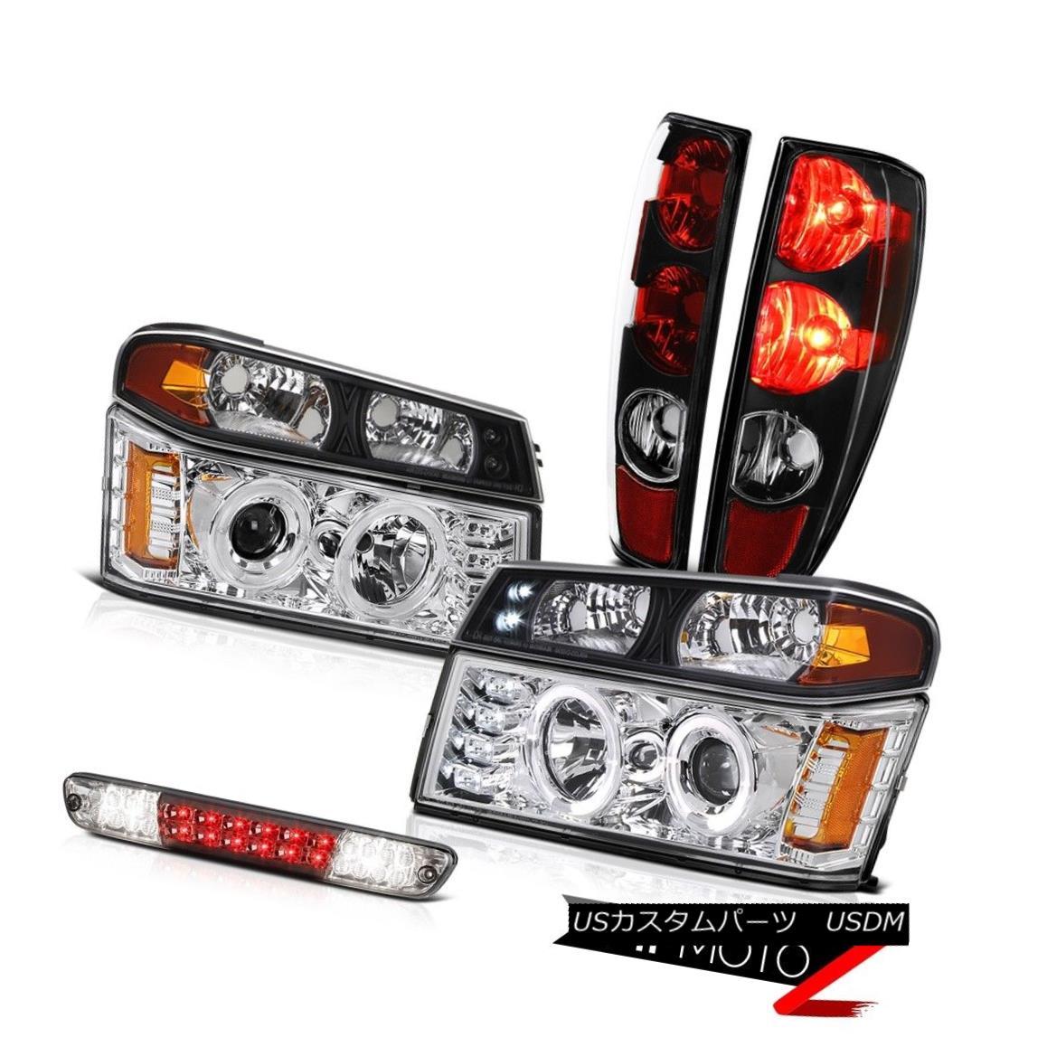 テールライト 04-08 09-12 GMC Canyon Tail Lights Parking Phantom Smoke Third Brake Head LH+RH 04-08 09-12 GMCキャニオンテールライト駐車場ファントムスモーク第3ブレーキヘッドLH + RH