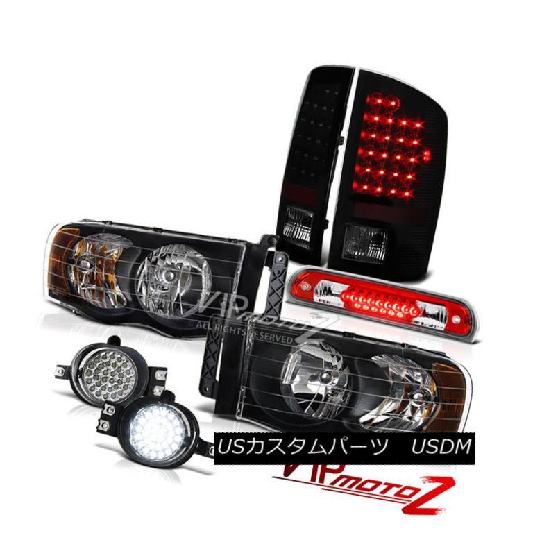 テールライト 02 03 04 05 Ram Clear/Black Headlights LED Tail Lights Fog Lamps 3rd Brake Cargo 02 03 04 05ラムクリア/ブラックヘッドライトLEDテールライトフォグランプ第3ブレーキカーゴ