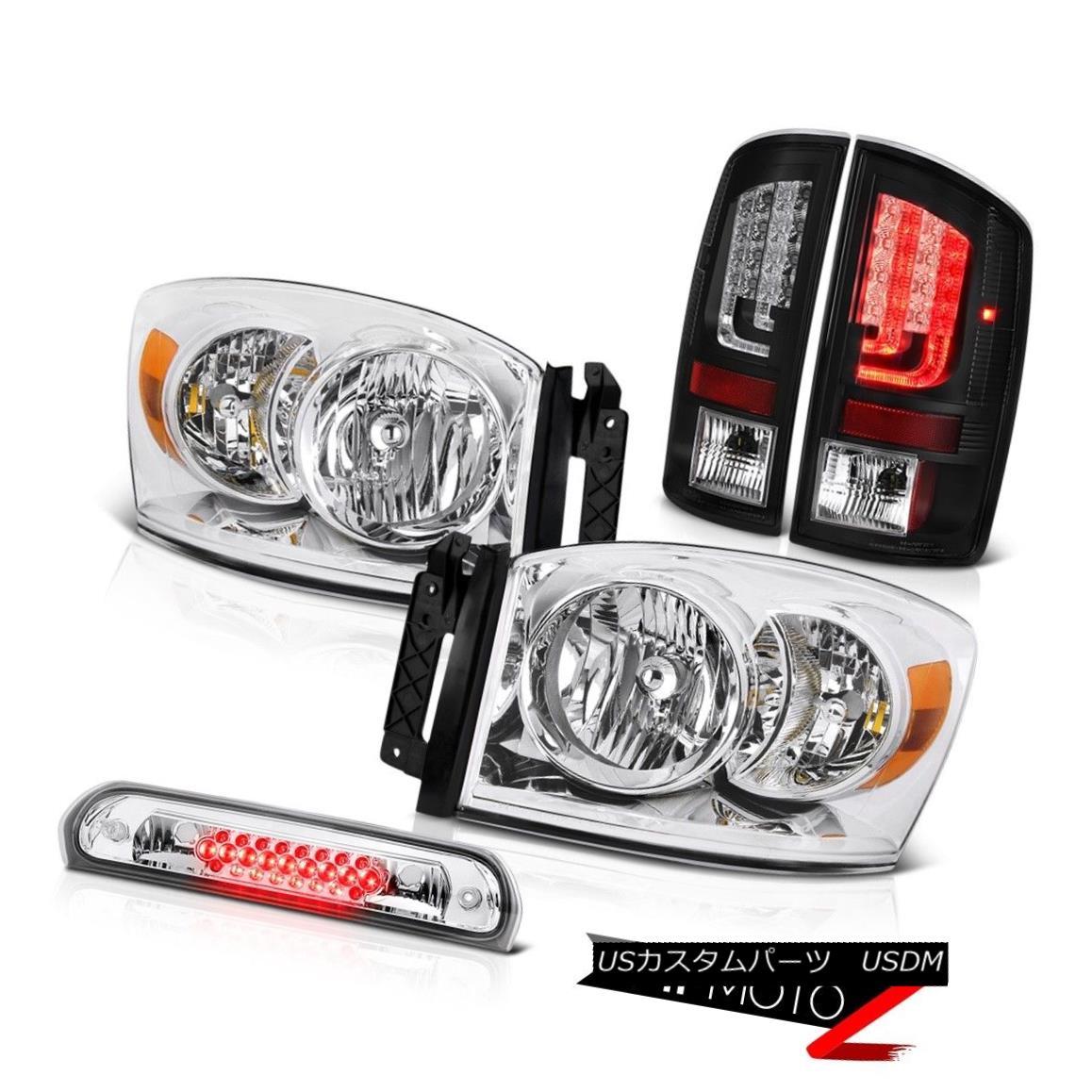 テールライト 07-09 Dodge Ram 2500 1500 4.7L Tail Lamps Headlights High STop Lamp Neon Tube 07-09ダッジラム2500 1500 4.7Lテールランプヘッドライトハイストップランプネオンチューブ