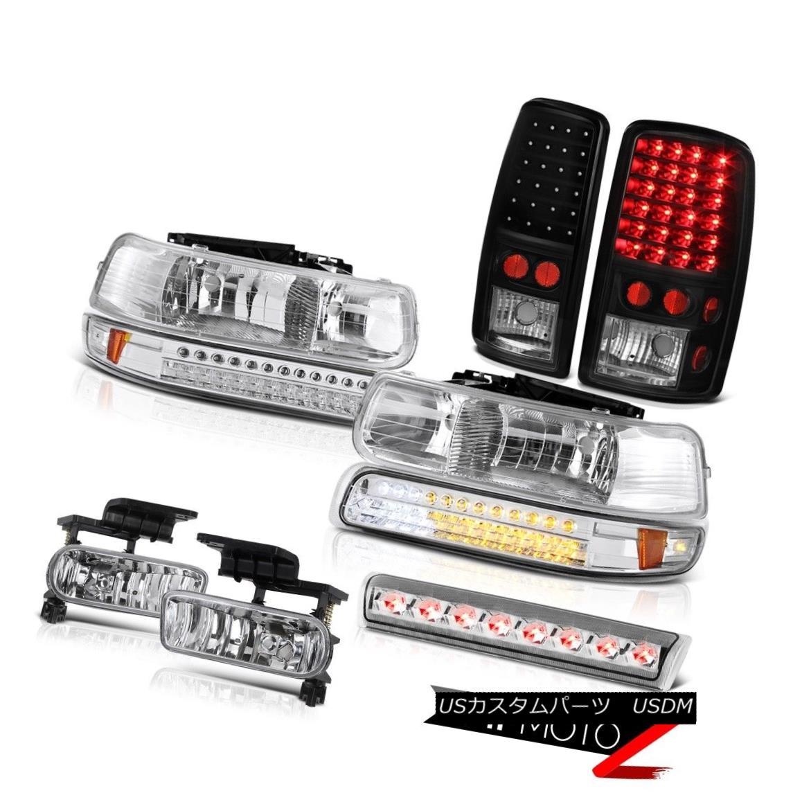 テールライト 00-06 Chevy Tahoe LS Headlamps matte black taillamps foglamps third brake light 00-06 Chevy Tahoe LSヘッドランプマットブラックテールライトフォグランプ第3ブレーキライト
