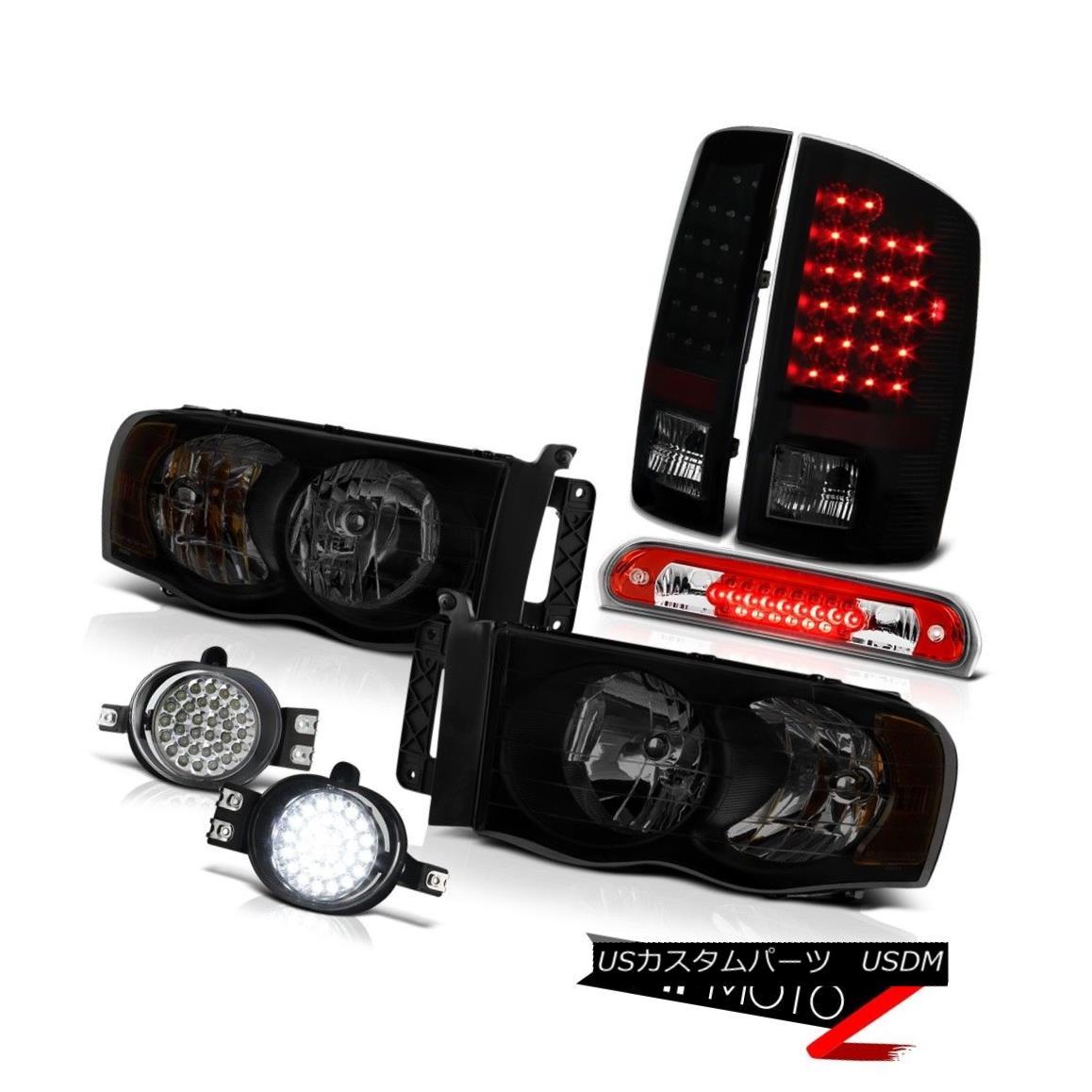 テールライト 02-05 Dodge Ram 2500 3500 3.7L Headlamps Fog Lights Roof Cab Lamp Taillights 02-05 Dodge Ram 2500 3500 3.7Lヘッドライトフォグライトルーフキャブ付きランプ