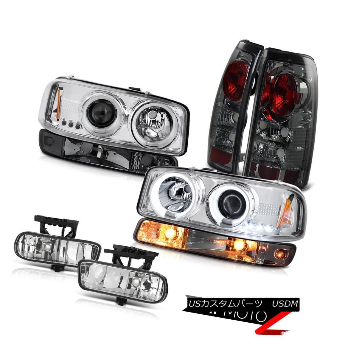 テールライト 99-02 Sierra SLT Fog lights dark smoke tail lamps parking light ccfl headlamps 99-02シエラSLTフォグライトダークスモールテールランプパーキングライトccflヘッドライト