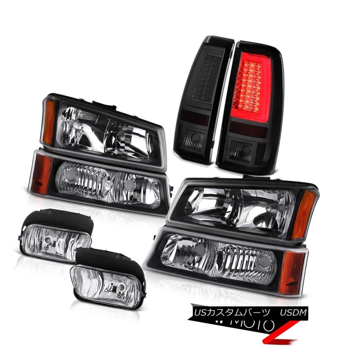 テールライト 2003-2006 Silverado 1500 Smoked Tail Lamps Foglamps Black Signal Light Headlamps 2003-2006 Silverado 1500スモークテールランプフォグランプブラックシグナルライトヘッドランプ