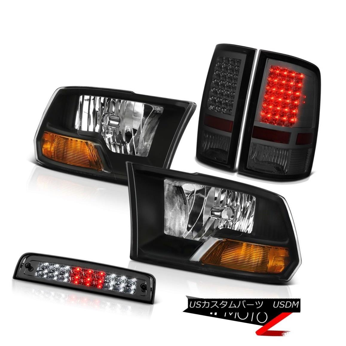 テールライト 2010-2018 Dodge Ram 1500 3.0L Smokey Roof Brake Lamp Parking Lights Headlights 2010-2018 Dodge Ram 1500 3.0Lスモーキールーフブレーキランプパーキングライトヘッドライト