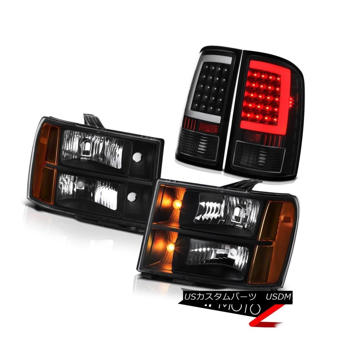 テールライト 08-14 Gmc Sierra 2500 SL Taillights Headlights Neon Tube OE Style