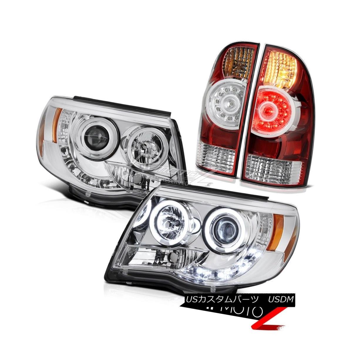テールライト 2005-2011 Tacoma X-Runner Projector headlights taillights 2x CCFL Halo OE Style 2005-2011タコマXランナープロジェクターヘッドライトテールライト2x CCFL Halo OEスタイル