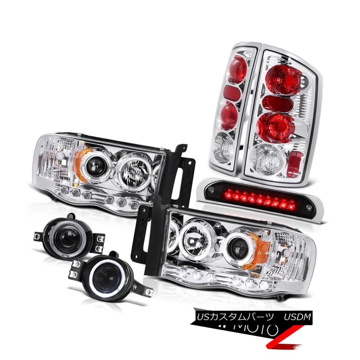 テールライト LED DRL Headlamps Rear Tail Light Projector Fog 3rd Brake Cargo 2002-2005 Ram V6 LED DRLヘッドランプリアテールライトプロジェクターフォグ第3ブレーキカーゴ2002-2005 Ram V6
