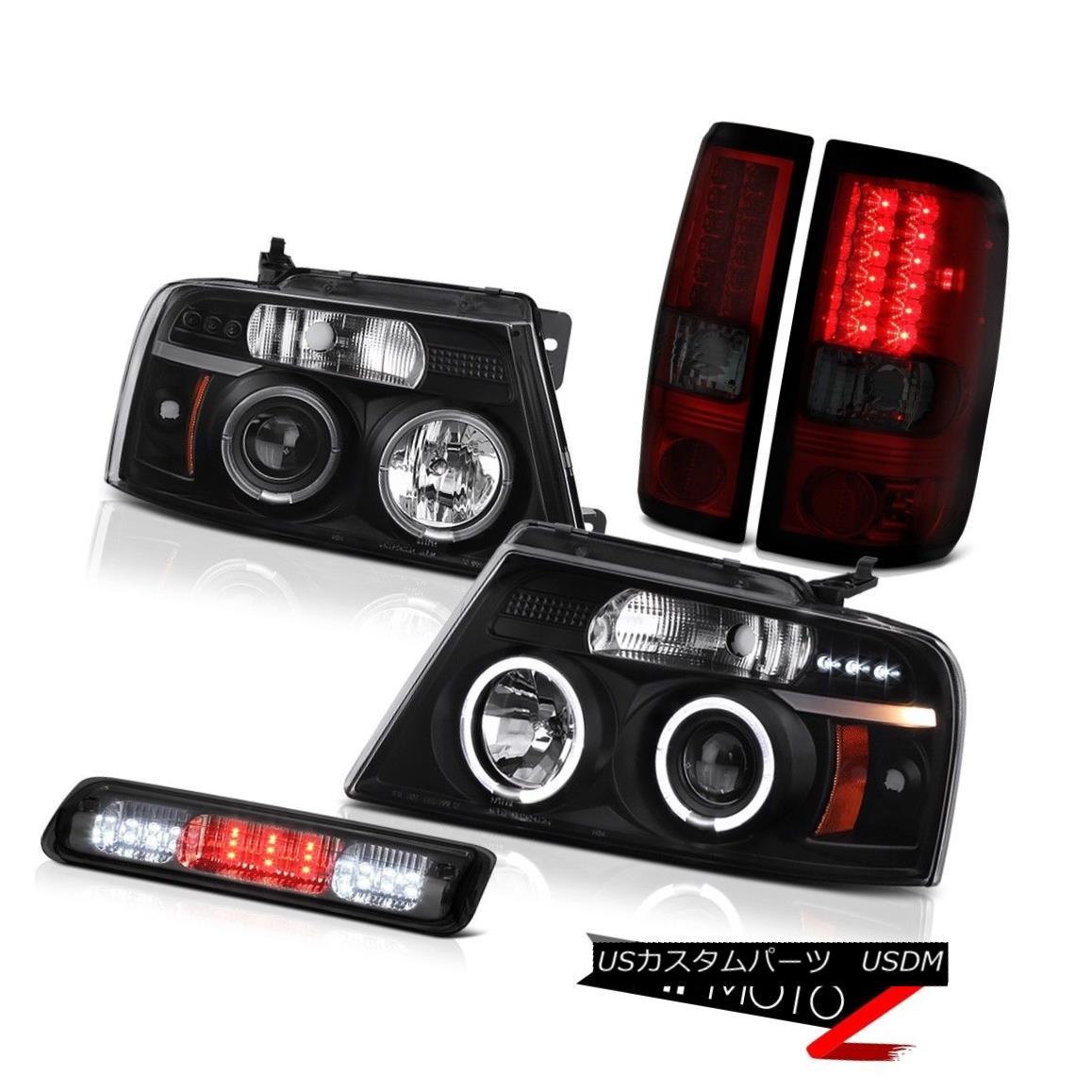 テールライト 04-08 Ford F150 FX4 Roof Cargo Light Headlamps Taillamps Dual Halo