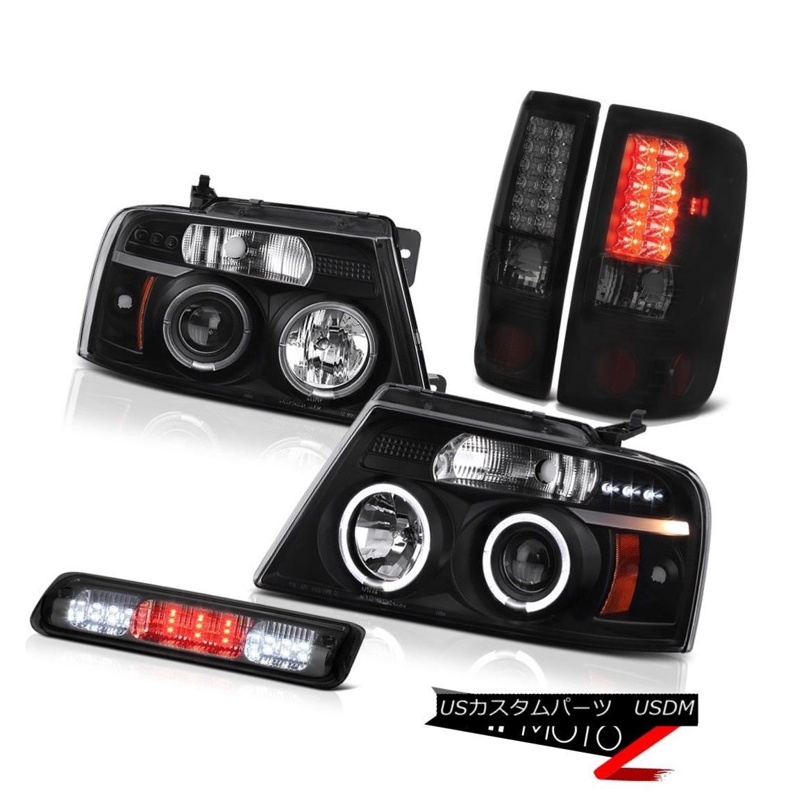 テールライト 04-08 Ford F150 FX4 Third Brake Light Projector Headlamps Taillamps Dual Halo 04-08 Ford F150 FX4第3ブレーキライトプロジェクターヘッドランプトライアングルデュアルヘイロー