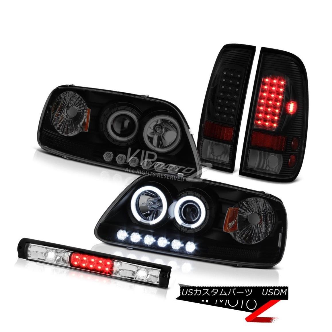 テールライト 97-03 F150 Xlt Black 3RD Brake Light Sinister Tail Lights Headlights Halo Ring 97-03 F150 Xltブラック3RDブレーキライトシニスターテールライトヘッドライトハローリング