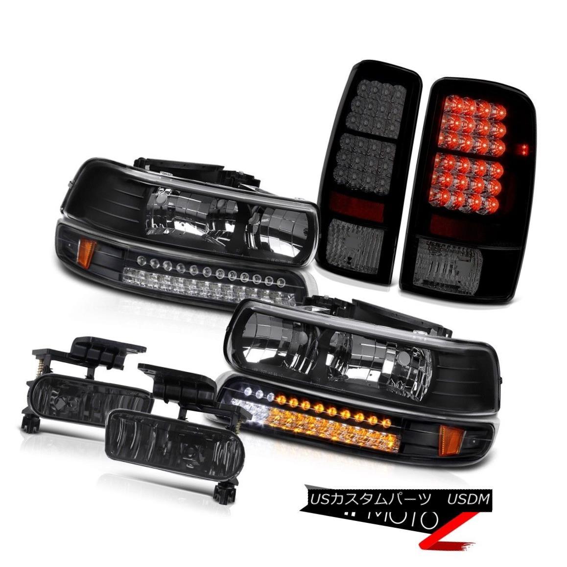 テールライト Black Headlights LED Bumper Sinister Tail Light Fog 00 01 02 03 04 05 Suburban ブラックヘッドライトLEDバンパーSinisterテールライトフォグ00 01 02 03 04 05郊外