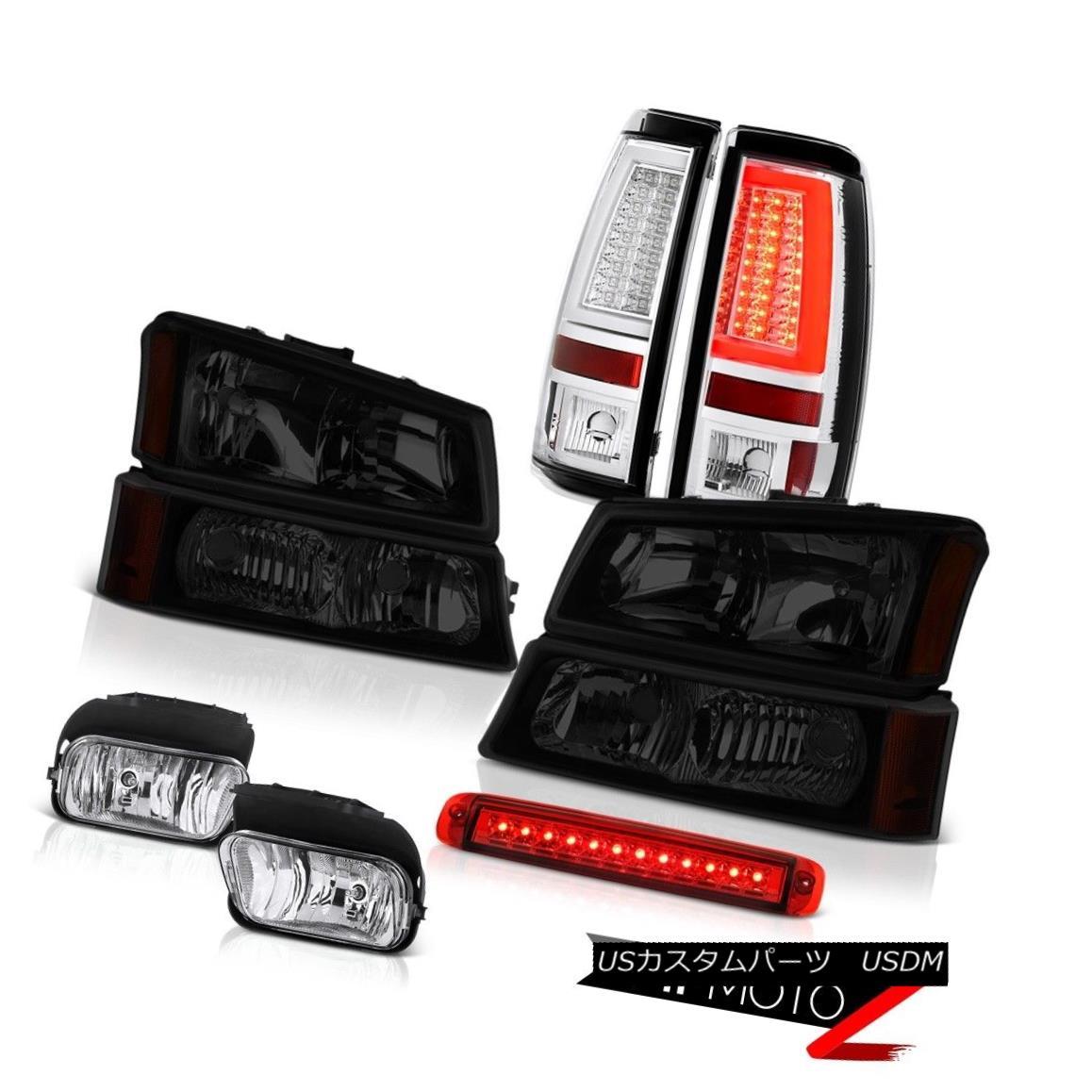 テールライト 03 04 05 06 Silverado 2500Hd Taillamps Red Third Brake Lamp Headlamps Foglights 03 04 05 06 Silverado 2500Hd Taillamps赤い第3ブレーキランプヘッドランプフォグライト