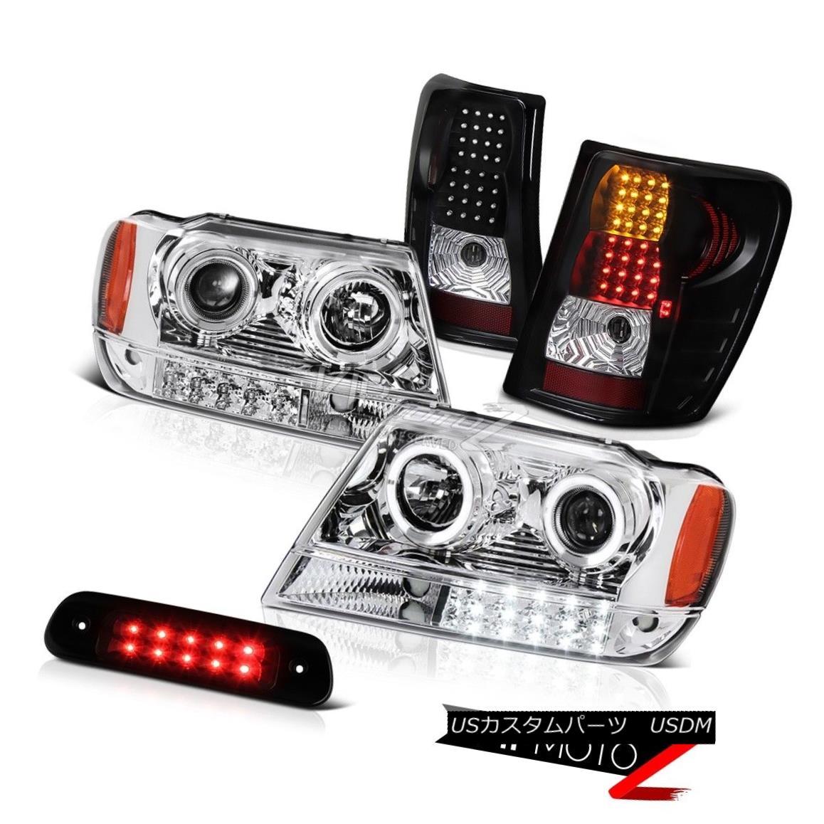 テールライト 99-04 Jeep Grand Cherokee WJ Laredo Roof Cab Light Tail Lamps Headlamps LED Bk 99-04ジープグランドチェロキーWJラレドルーフキャブライトテールランプヘッドランプLED Bk
