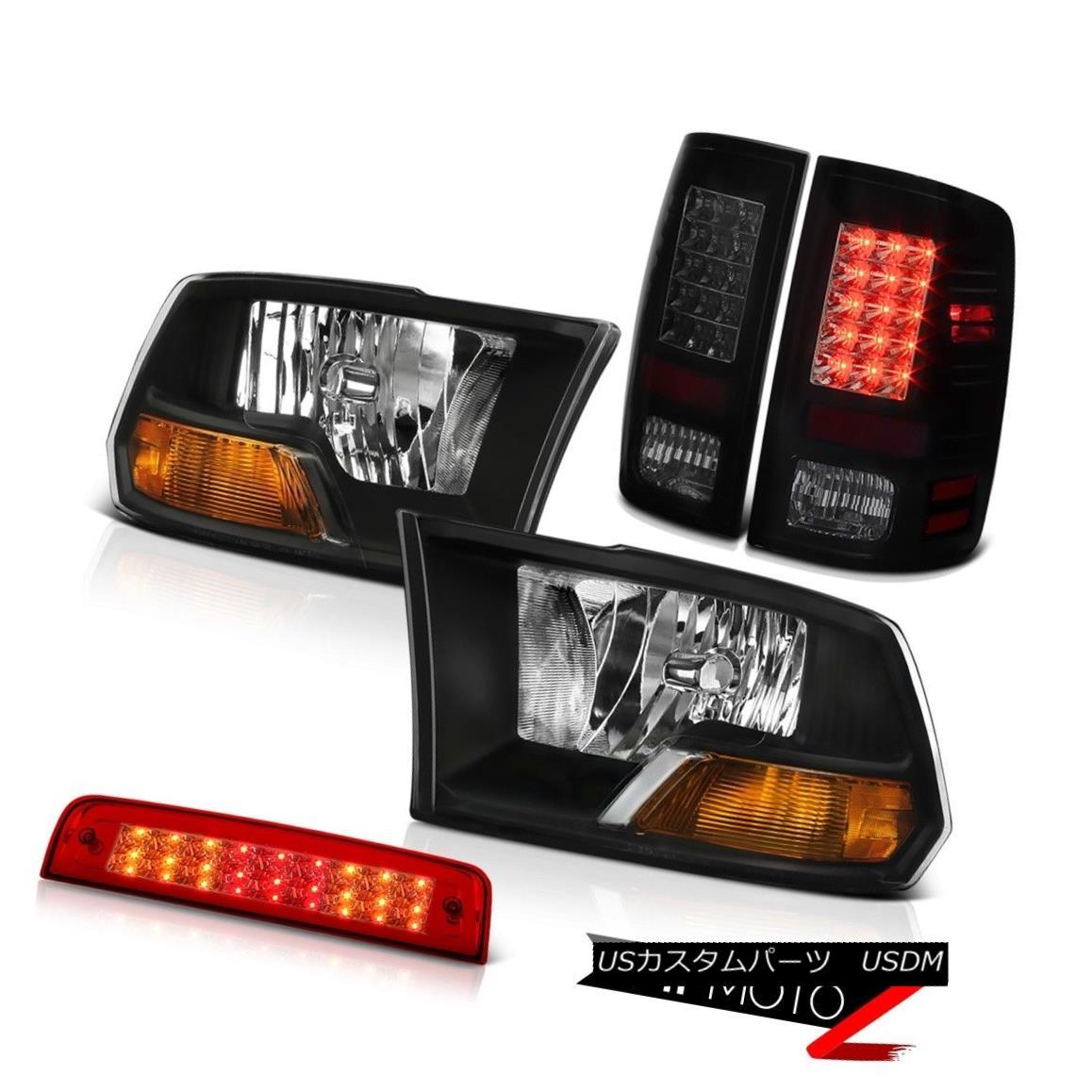 テールライト 09-18 Ram 1500 6.7L Roof Brake Lamp Parking Lights Black Headlights SMD Oe STyle 09-18ラム1500 6.7LルーフブレーキランプパーキングライトブラックヘッドライトSMD Oe STyle