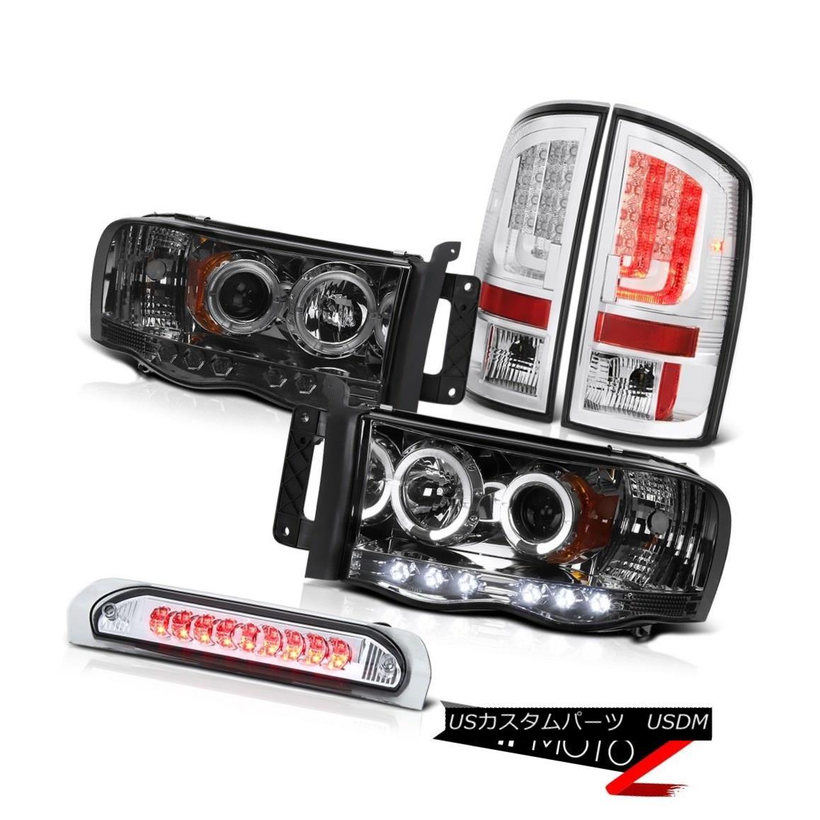 テールライト 02-05 Ram 1500 2500 3500 5.9L Euro Clear Tail Lights Headlights High STop Light 02-05 Ram 1500 2500 3500 5.9Lユーロクリアテールライトヘッドライトハイストップライト