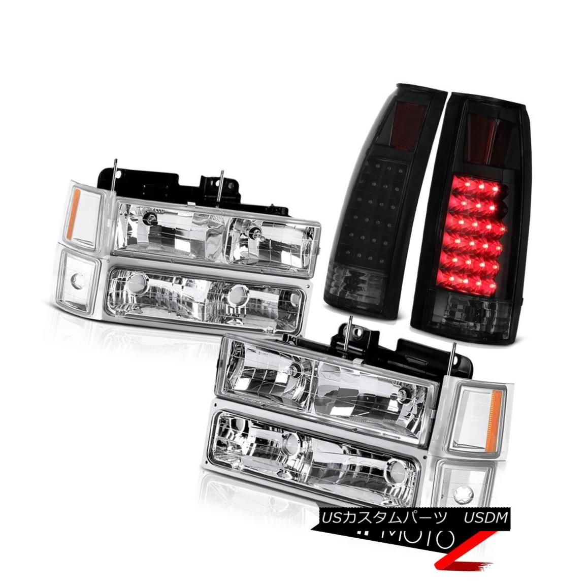 テールライト 94-98 Chevy K2500 Tail Lamps Crystal Clear Parking Turn Signal Lights Headlights 94-98シボレーK2500テールランプクリスタルクリアパーキングターンシグナルライトヘッドライト