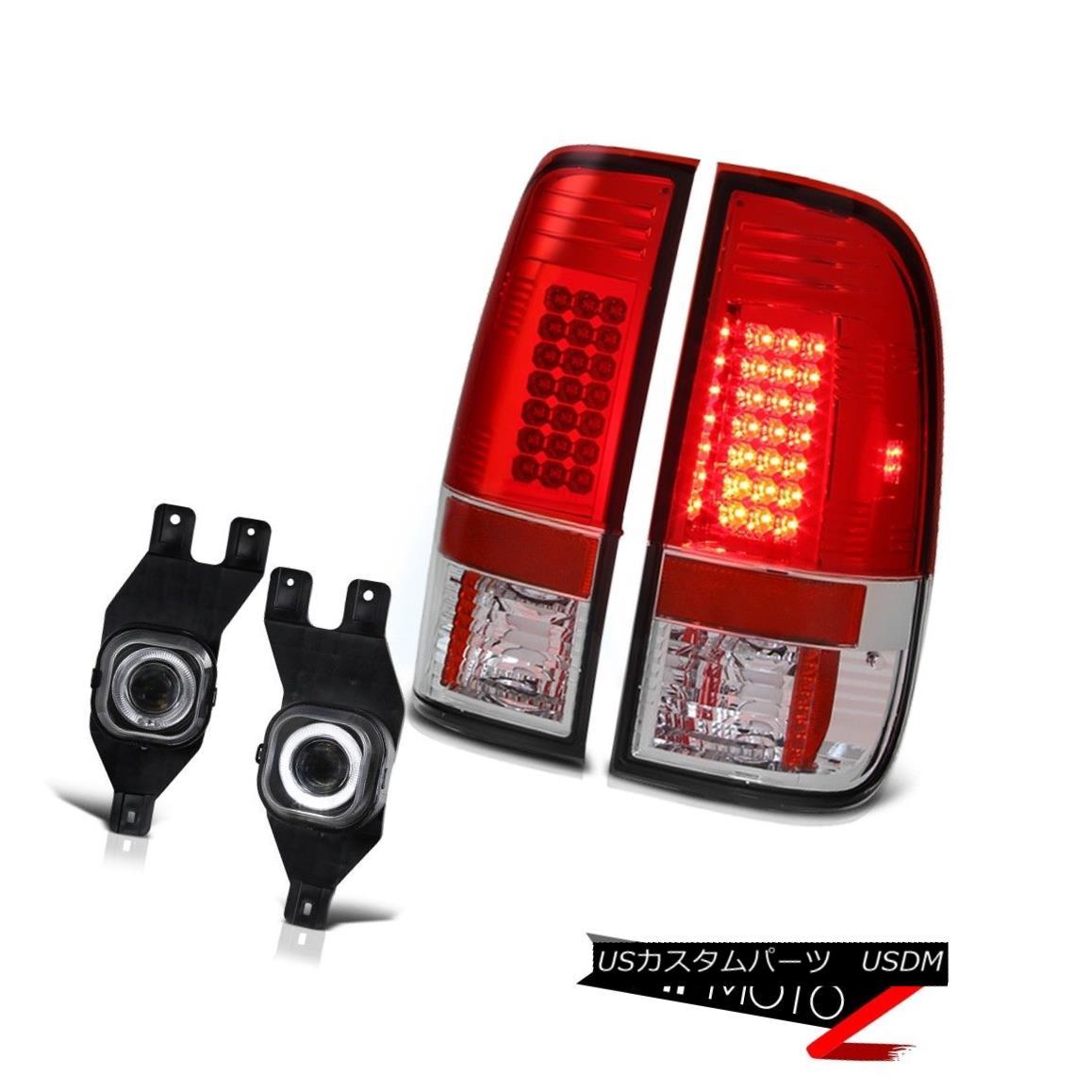 テールライト Factory Style LED Tail Light+Front Bumper White SMD DRL Fog Light+Wiring 工場スタイルLEDテールライト+フロントバンパー白SMD DRLフォグライト+配線