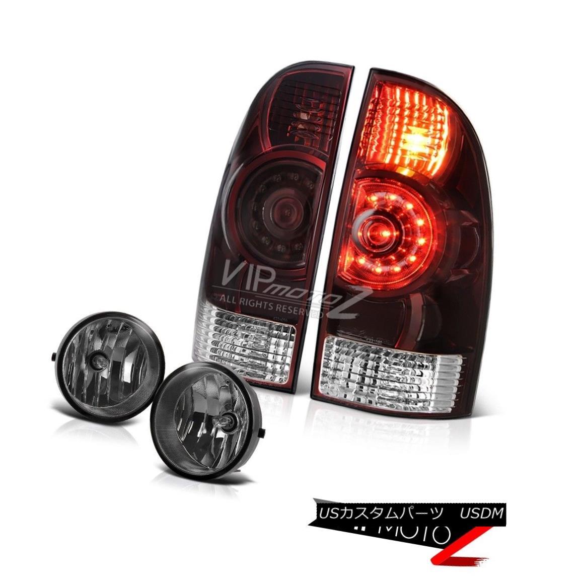 テールライト 05-11 Tacoma X-Runner Burgundy red tail brake lights fog LED SMD Crystal Lens 05-11タコマXランナーバーガンディレッドテールブレーキライトフォグLED SMDクリスタルレンズ
