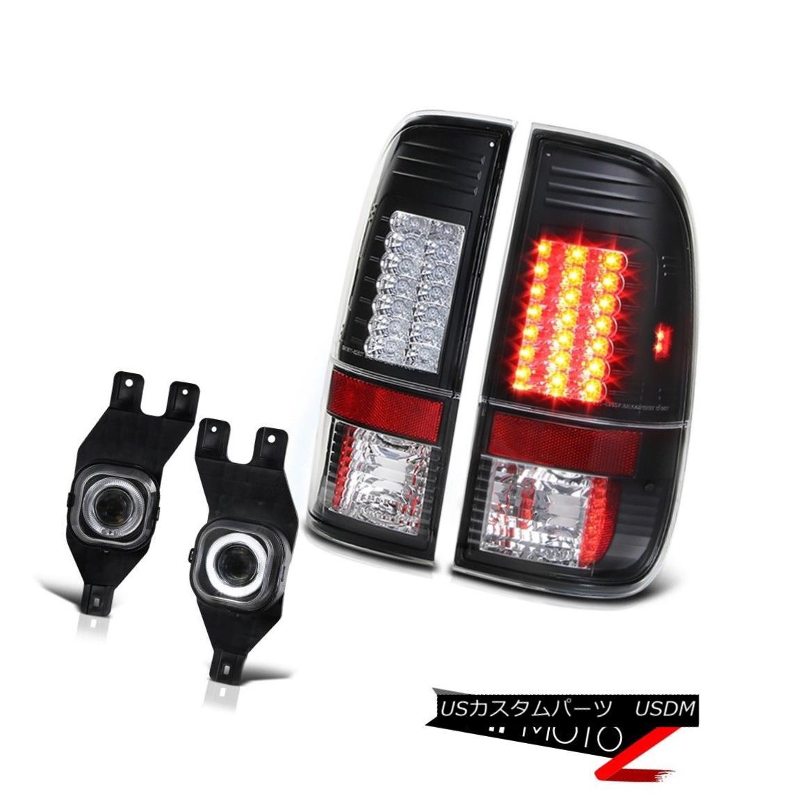 テールライト L+R Black LED Tail Lamp+Projector Halo DRL Fog F250 F350 SuperDuty 99-04 Pickup L + RブラックLEDテールランプ+プロジェクターHalo DRL Fog F250 F350 SuperDuty 99-04ピックアップ