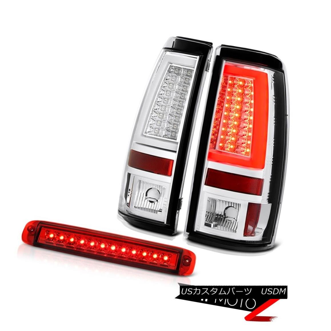 テールライト 03-06 Silverado 3500Hd Tail Lamps Red Clear Third Brake Lamp Frosty Neon Tube 03-06シルバラード3500Hdテールランプレッドクリア第3ブレーキランプフロスティネオンチューブ