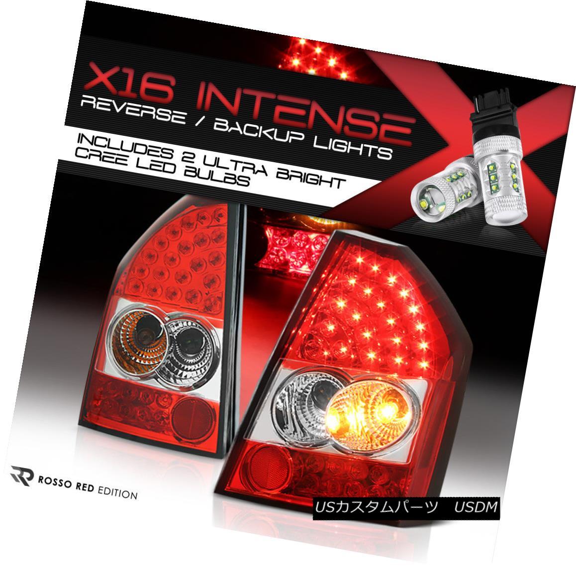 テールライト {Cree LED Reverse} 08-10 Chrysler SRT8 300C LED {STUNNER RED} Tail Lights LH RH {クリーLED逆転} 08-10クライスラーSRT8 300C LED {スタナーレッド}テールライトLH RH