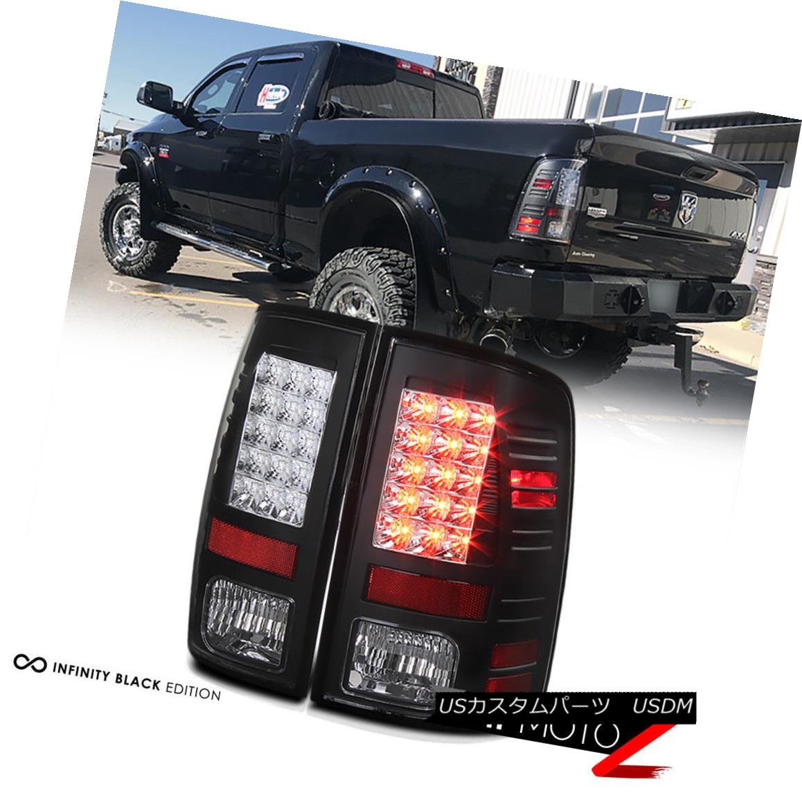 テールライト 2013-2018 DODGE RAM 1500 2500 3500 Mat Black Rear LH+RH LED Tail Lights Lamp Set 2013-2018 DODGE RAM 1500 2500 3500マットブラックリアLH + RH LEDテールライトランプセット