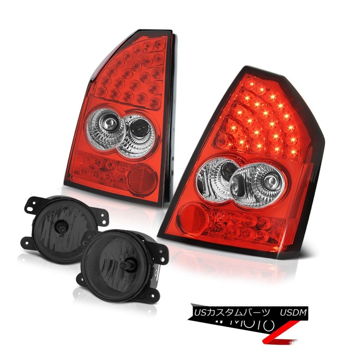 テールライト 2005-2007 Chrysler 300 2.7L Wine Red LED Taillamps Driving Fog Lights Class 2005-2007クライスラー300 2.7LワインレッドLEDタイルランプ、フォグライトクラス駆動