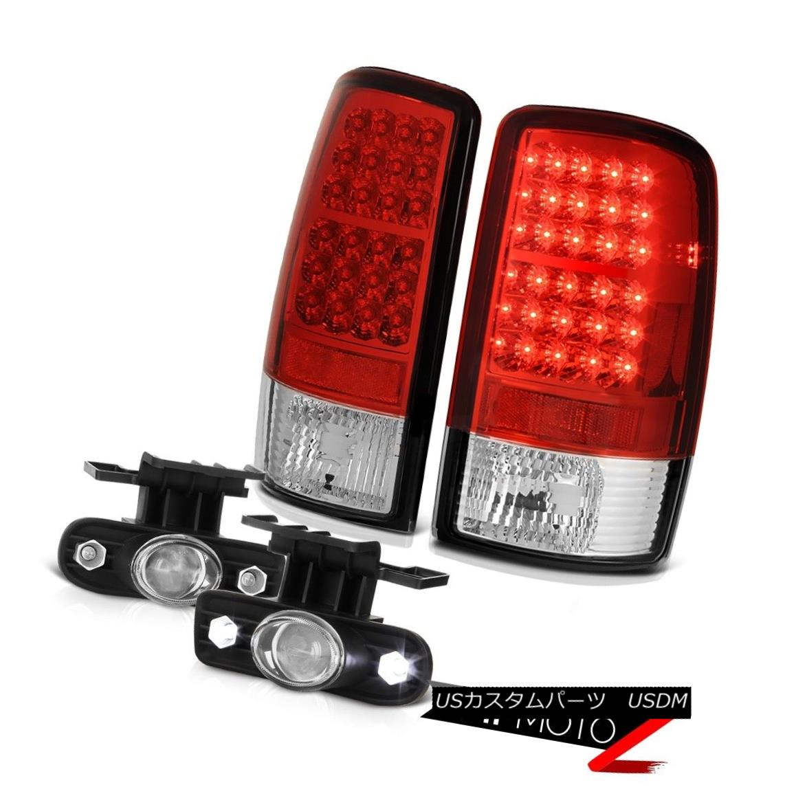 テールライト 01 02 03 04 05 06 Chevy Tahoe Z71 Left Right LED Tail Lights Glass Projector Fog 01 02 03 04 05 06 Chevy Tahoe Z71左のLEDテールライトガラスプロジェクターフォグ