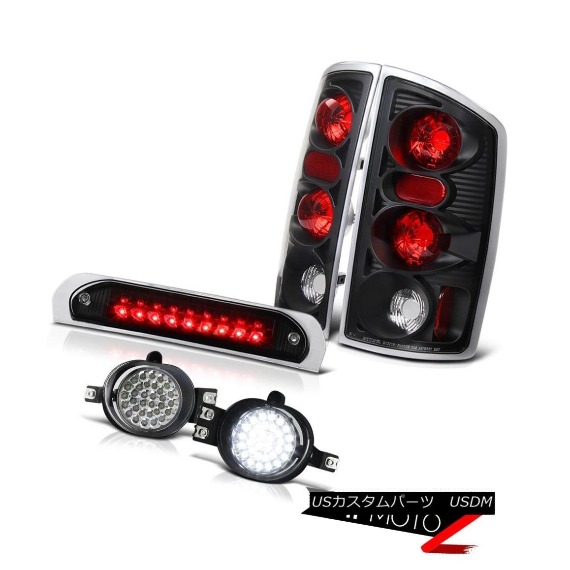 テールライト Signal Tail Lights Black SMD Foglights High Stop LED 3rd 02 03 04 05 Ram 2500 信号テールライト黒SMDフォグライトハイストップLED 3rd 02 03 04 05 Ram 2500