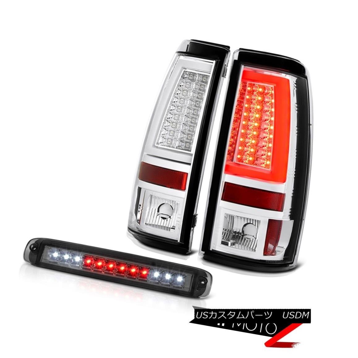 テールライト 03-06 Silverado 1500 Chrome Rear Brake Lamps Smokey Roof Light LED