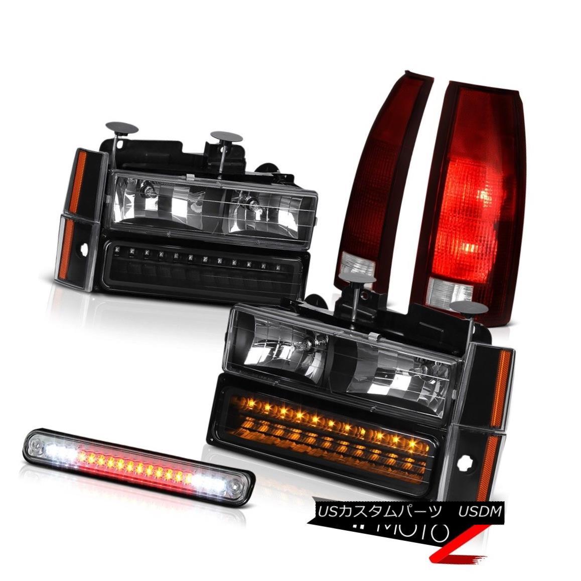 テールライト 88-93 Chevy K3500 Chrome Third Brake Lamp Tail Lamps Headlights Signal Parking 88-93 Chevy K3500 Chrome第3ブレーキランプテールランプヘッドライト信号駐車