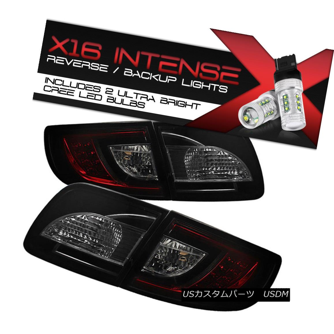 テールライト HIGH-POWER CREE REVERSE 2004-09 MaZda 3 4DR SMOKEY RED LED Tail Light Left+Right ハイパワークリーリバース2004-09 MaZda 3 4DR SMOKEY RED LEDテールライト左+右