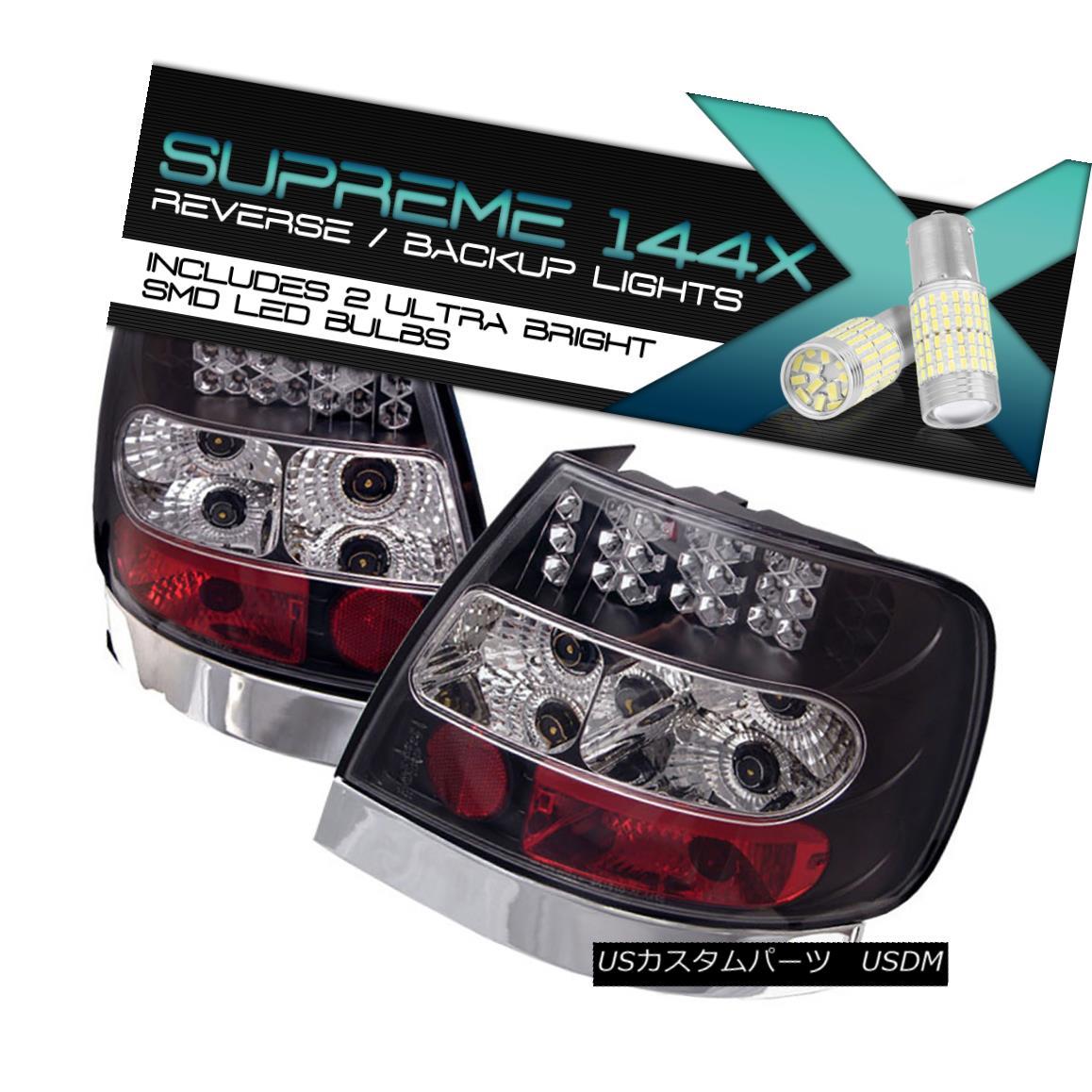 テールライト {FULL SMD REVERSE} 1996-2001 Audi A4 B5 Typ 8D Black LED Turn Signal Tail Lamps {FULL SMD REVERSE} 1996-2001 Audi A4 B5 Typ 8DブラックLEDターンシグナルテールランプ