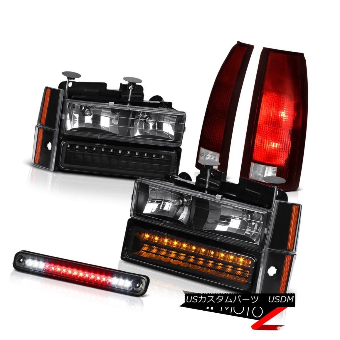 テールライト 88-93 Chevy K2500 3RD Brake Light Red Smoke Tail Lights Headlamps Bumper Corner 88-93 Chevy K2500 3RDブレーキライトレッド煙テールライトヘッドランプバンパーコーナー