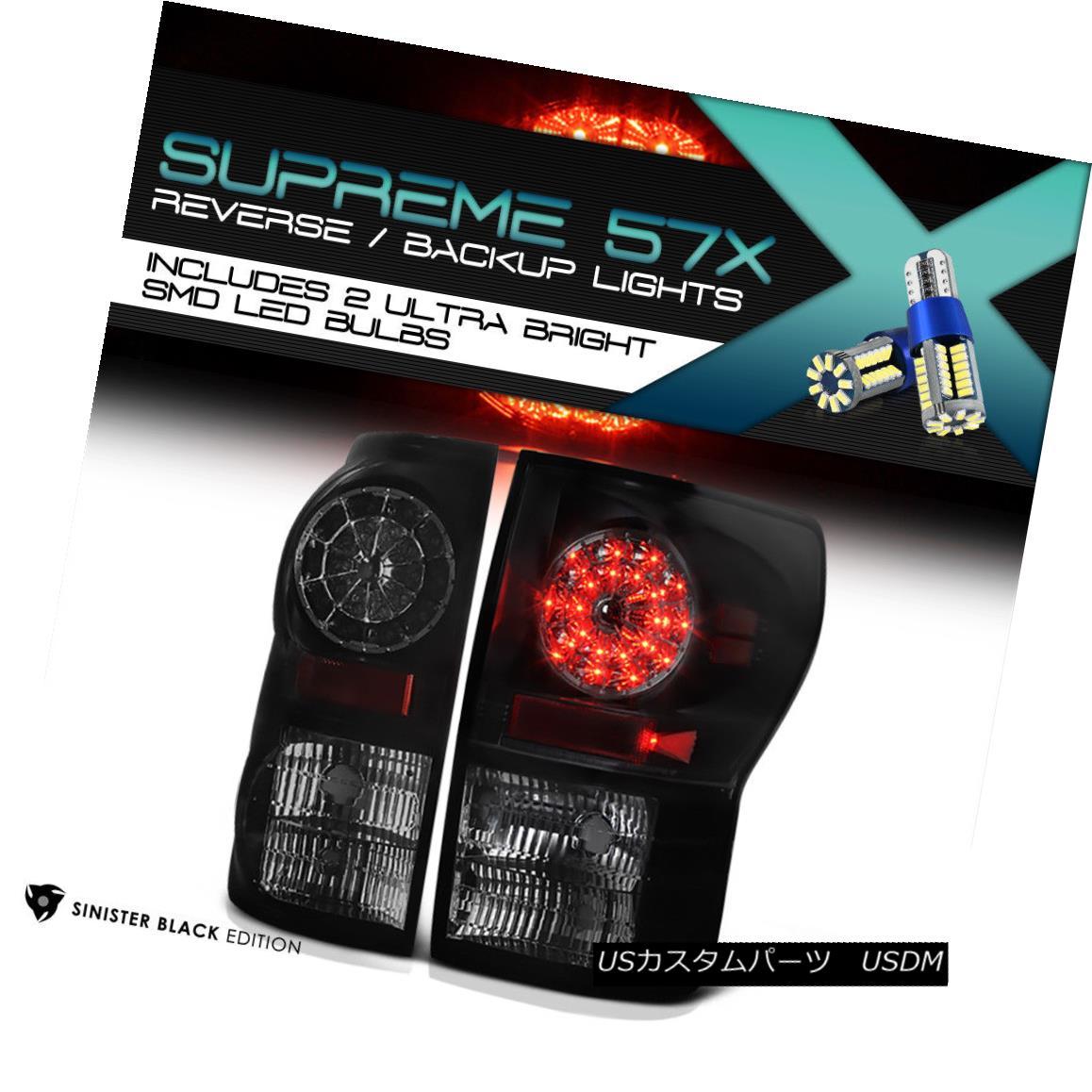テールライト [FULL SMD REVERSE] 07-2013 Toyota Tundra LED Tail Light Rear Brake Lamp Assembly [フルSMDリバース] 07-2013トヨタトンドラLEDテールライトリアブレーキランプアセンブリ