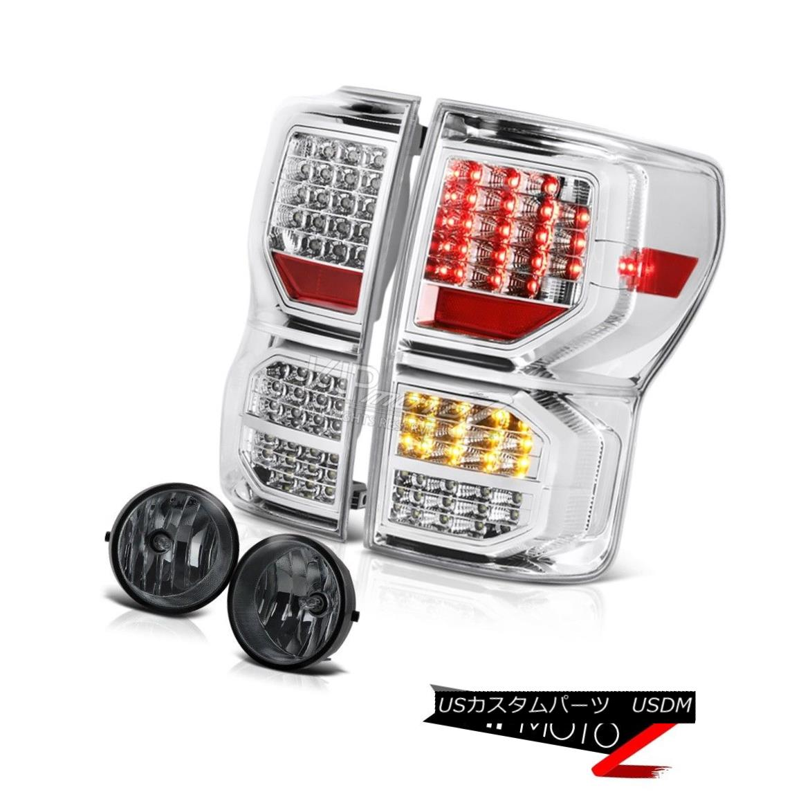 テールライト 2007-2013 Toyota Tundra SR5 Chrome Taillamps Dark Smoke Foglamps