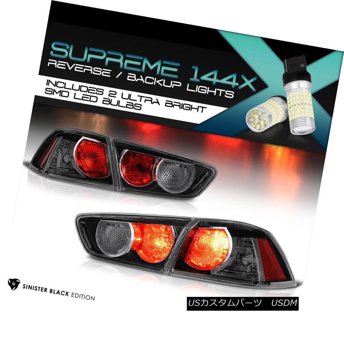 テールライト {Full SMD Reverse} 08-17 Mitsubishi Lancer EVO Ralliart Tail Lights Replacement {フルSMDリバース} 08-17三菱ランサーEVO Ralliartテールライト交換