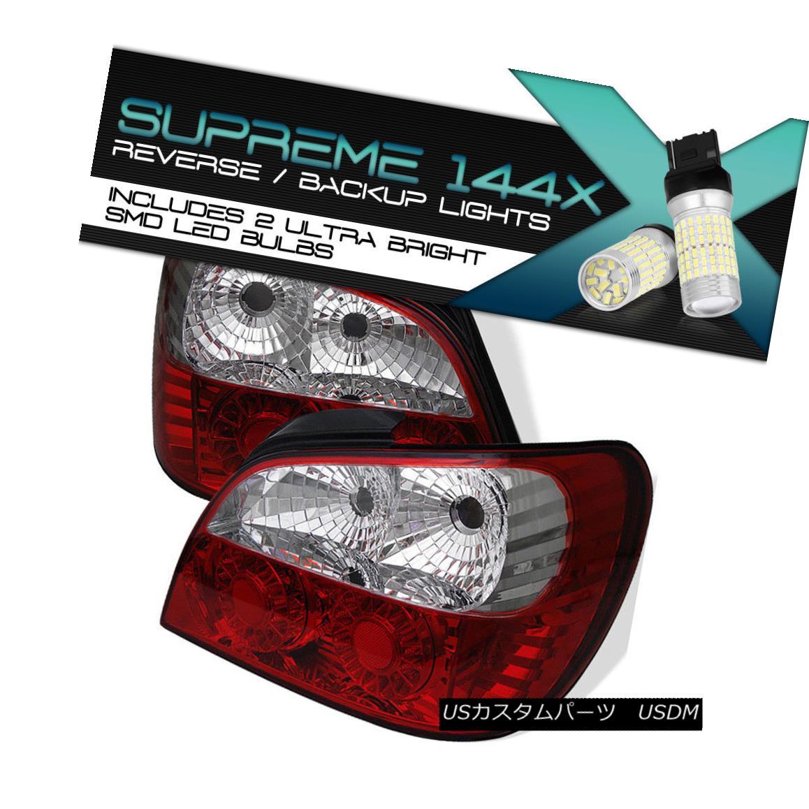 テールライト [Full SMD Backup] RED/CLEAR LED Tail Light For 02-03 Subaru Impreza 2.5RS 2/4DR [フルSMDバックアップ] RED / CLEAR LEDテールライト02-03スバルインプレッサ2.5RS 2 / 4DR