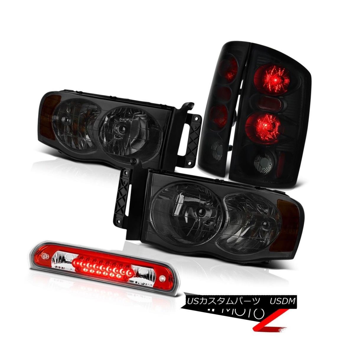 テールライト Left Right Smoke Headlights Brake Tail Lamps 3rd Red LED 02 03 04 05 Ram SRT-10 左右スモークヘッドライトブレーキテールランプ3番赤LED 02 03 04 05ラムSRT-10