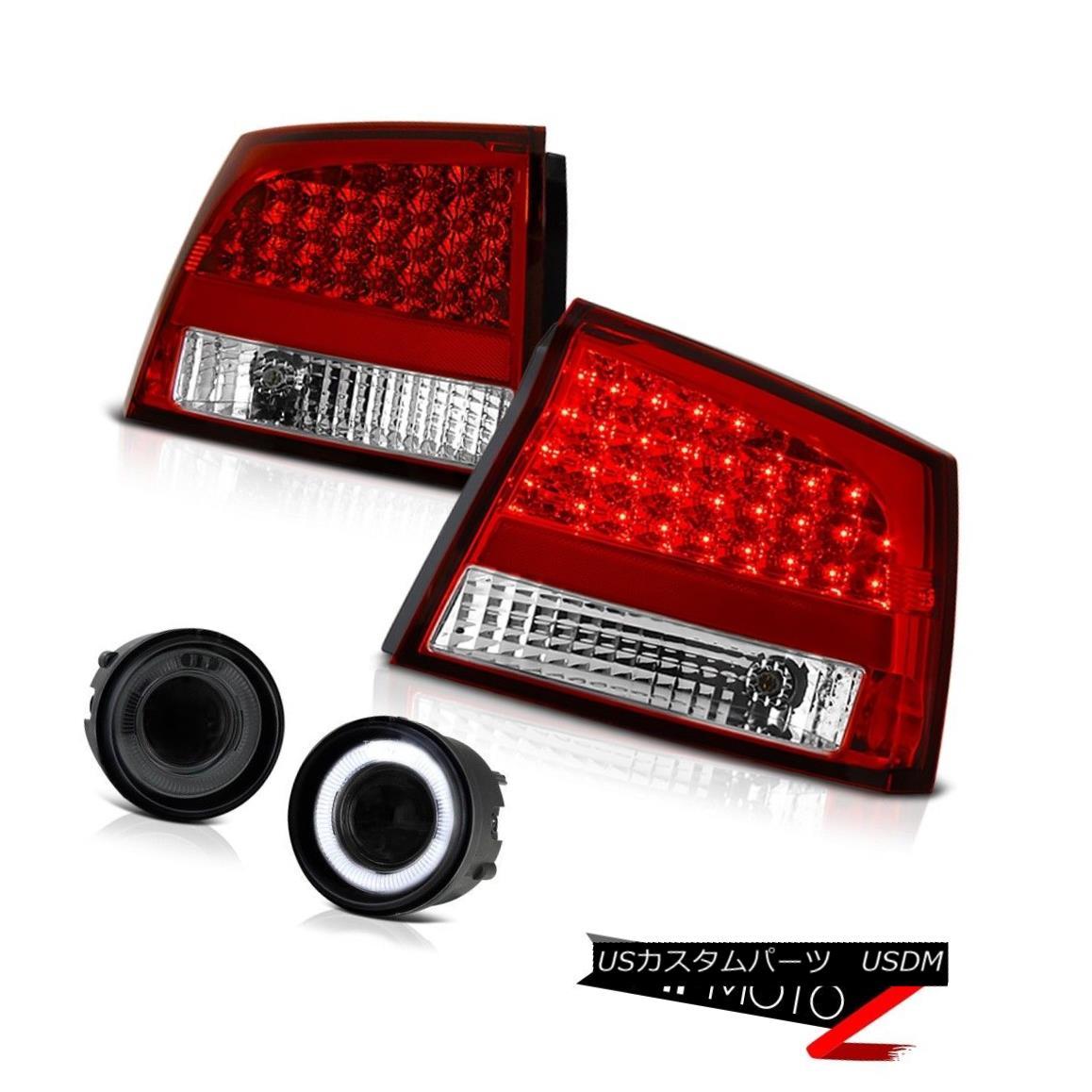 テールライト 06 07 08 Dodge Charger 2.7L Bright LED Tail Lights Smoke Angel Eye Projector Fog 06 07 08ダッジチャージャー2.7L明るいLEDテールライトスモークエンジェルアイプロジェクターフォグ