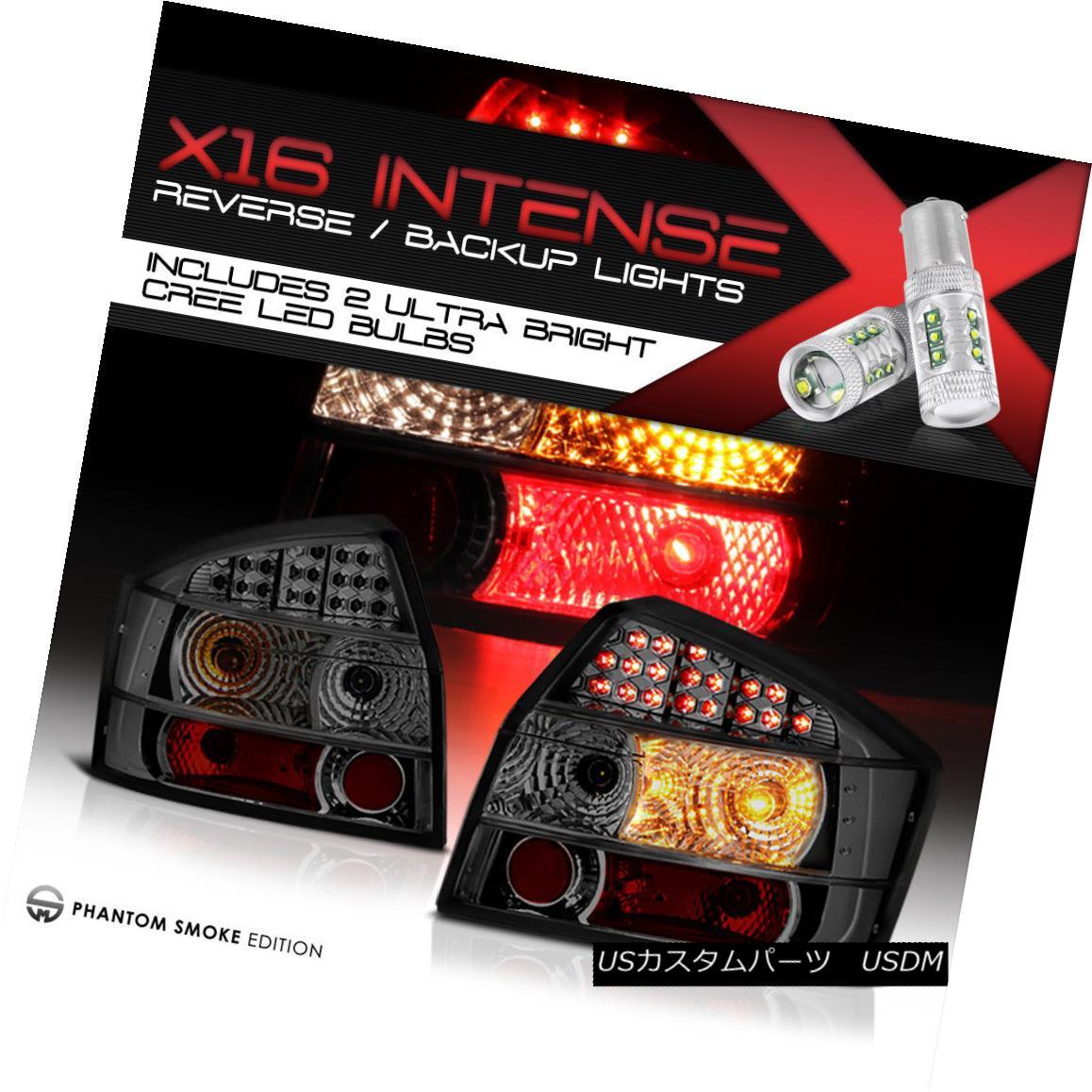 テールライト {Cree LED Reverse} Smoke 02-05 Audi LED Tail Lights Brake Sedan LH RH A4 S4 B6 {Cree LED Reverse}スモーク02-05アウディLEDテールライトブレーキセダンLH RH A4 S4 S4