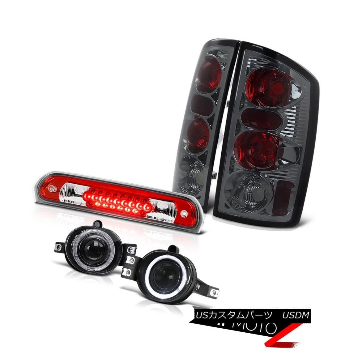 テールライト 2006 Dodge Ram SRT-10 Rear Brake Tail Lights Projector Chrome Fog Roof LED Red 2006ダッジラムSRT-10リアブレーキテールライトプロジェクタークロームフォグルーフLEDレッド