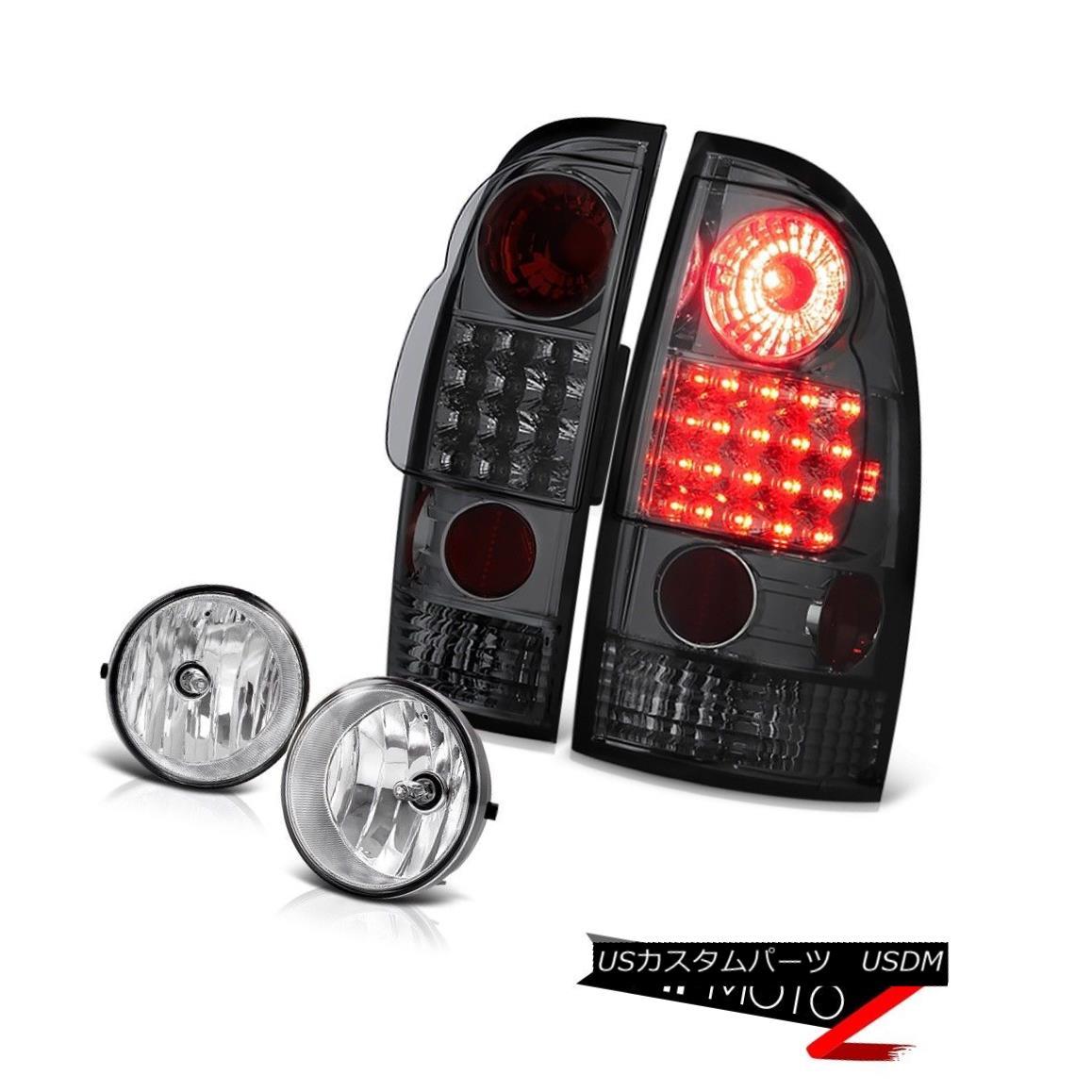 テールライト 2005-2011 Toyota Tacoma Smoke Tail Lights LED Clear Bumper Fog Lights Lamp Kits 2005年から2011年トヨタタコマ煙テールライトLEDクリアバンパーフォグライティングランプキット